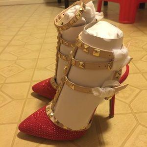 Women rhinestone high heels